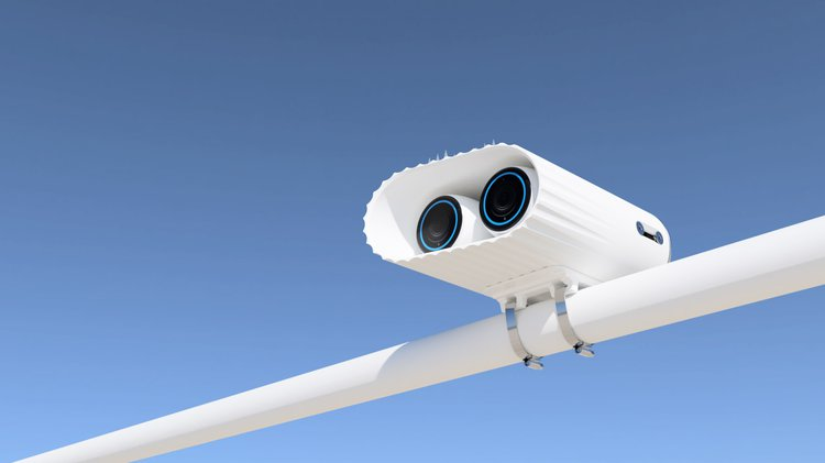visualisation of monitoring equipment against a blue sky