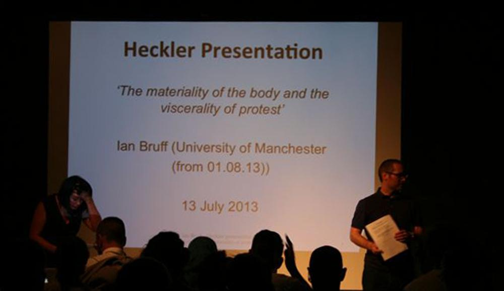 Heckler Symposium, July 2013, TRADE Gallery, Nottingham