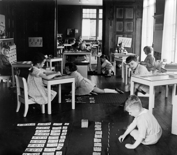 Montessori school in Amsterdam, The Netherlands, 1930.