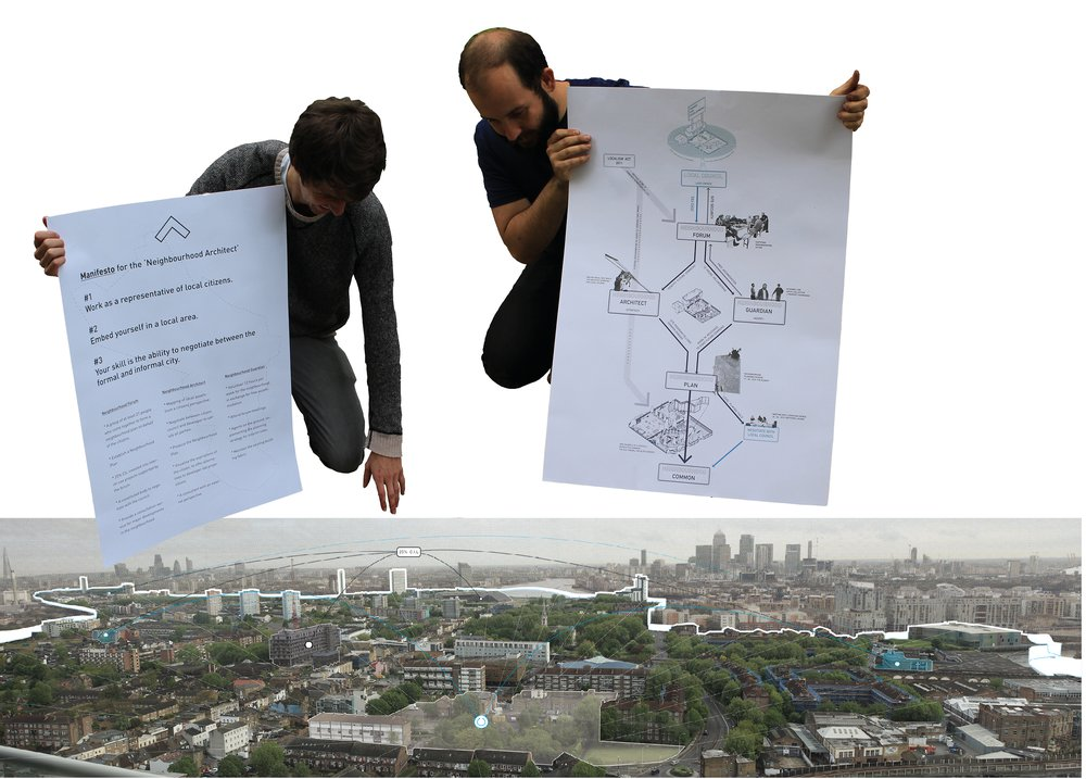 Defining the neighbourhood boundary