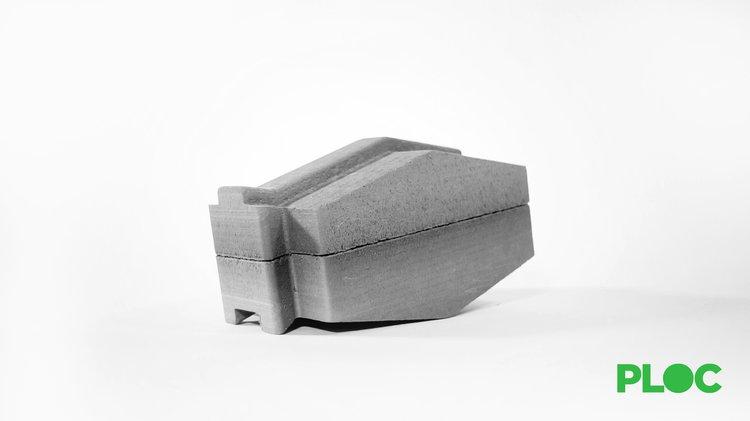 A grey cuboid shape