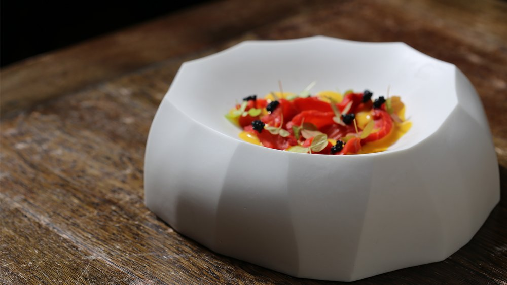 Mallow dish in collaboration with Lima restaurant, London