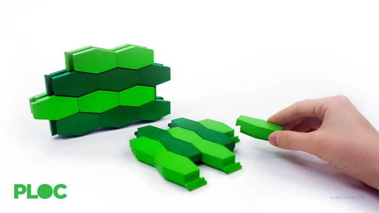 A green honeycomb structure