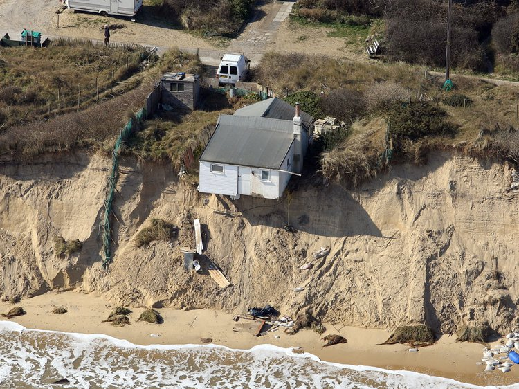 Cliff erosion, Hemsby, UK. Photo: Mike Page, SWNS, 2018