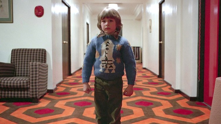 Stanley Kubrick, The Shining, 1980. Film still. Conspiratorial Aesthetics – conspiracy theorists believe Kubrick references the Apollo 11 Moon landing, which he is popularly believed to have helped stage, in this film.