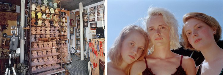 L: A preservation room for 'Selbstturm' (Self Tower), Dieter Roth, 2013; R: Three similar friends from 'Together',  Tabitha Barnard, 2018.