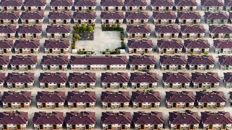 Houses in the city of Jiangyin, China