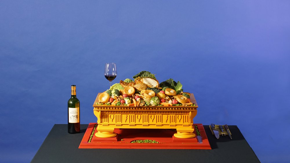 Reappropriating the symbols of the Ancient Greek Ritual of Sacrifice for the Sunday Roast Dinner