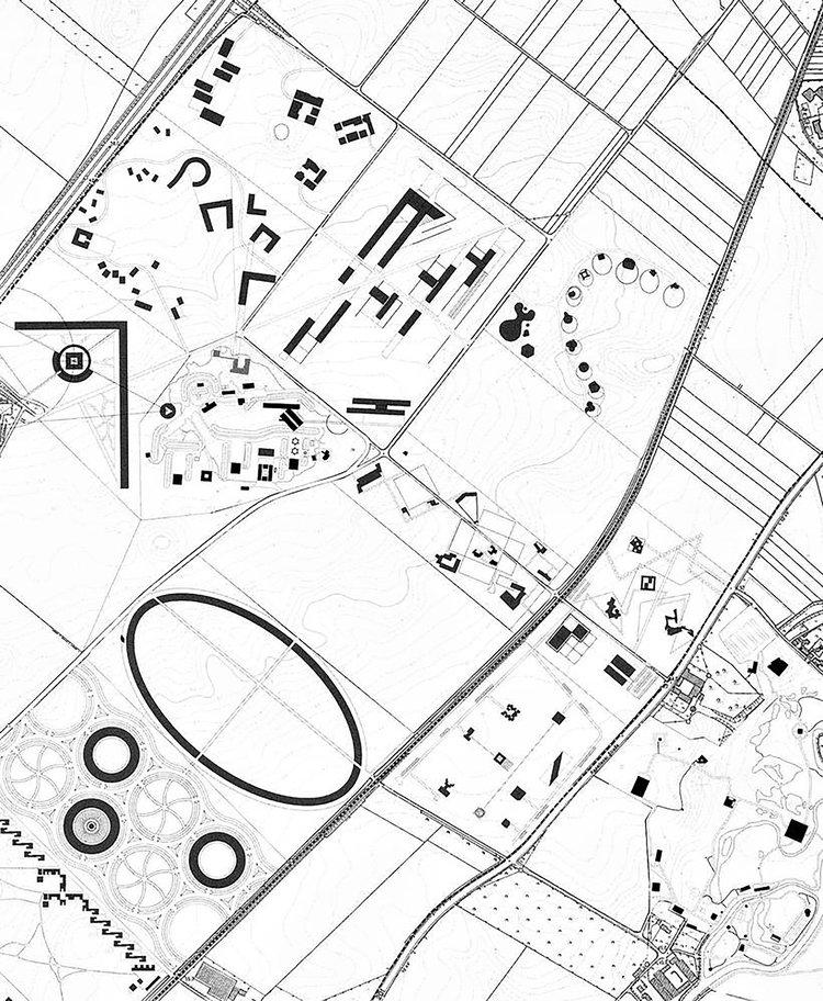 Site plan, Museum Insel Hombroich (1990-2015)
