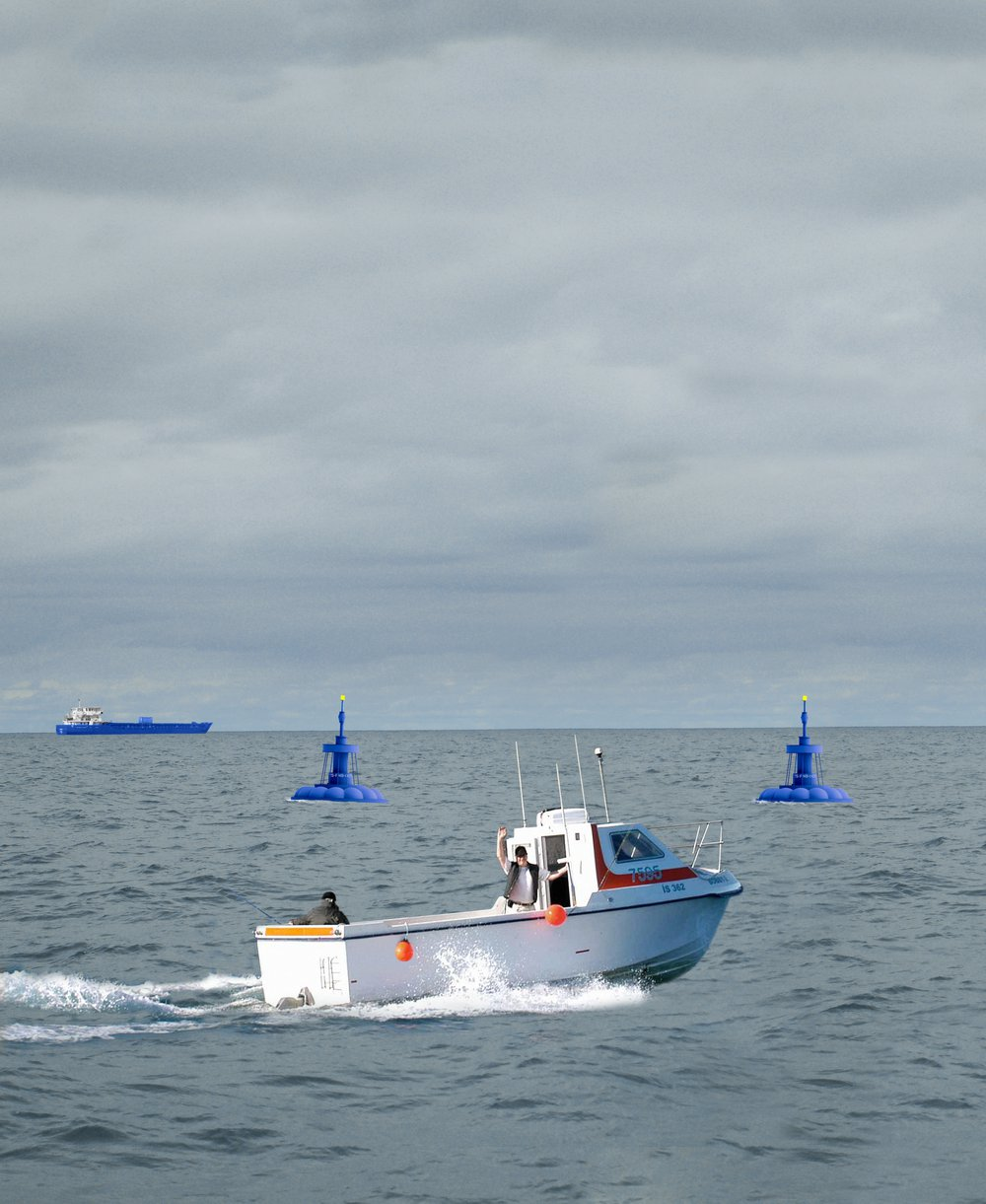 Fishing in Federal Waters. 11km off the Holderness Coast.
