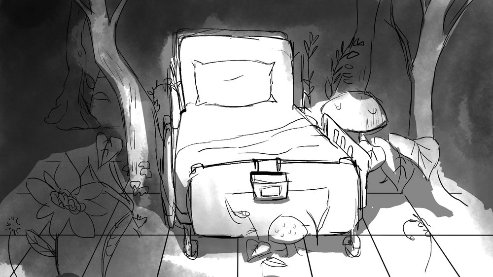 Concept Art- Forest Hospital Bed