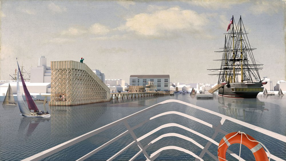 Shortlisted competition entry for Portsmouth Historic Dockyard