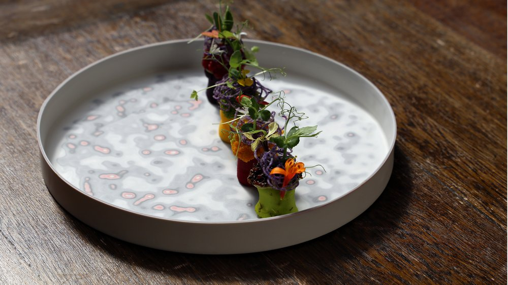 Amoeba dish in collaboration with Lima restaurant, London