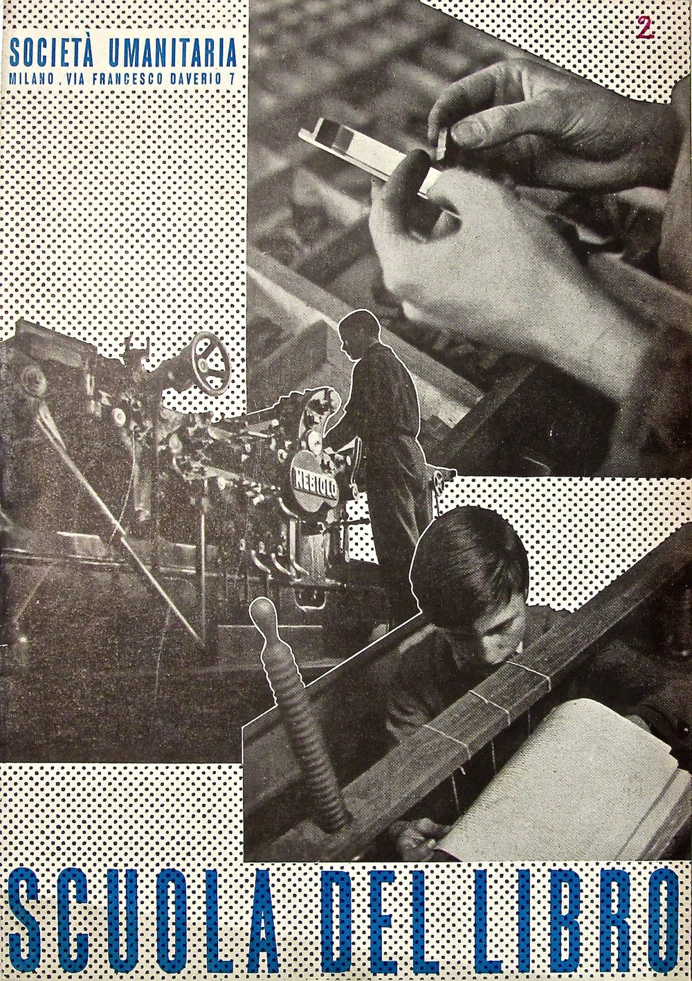 promotional pamphlet, Scuola del Libro in Milan