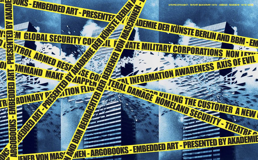Embedded Art – Art in the Name of Security, co-edited by Cecilia Wee. Cover by Gunter Rambow (argobooks, 2009)