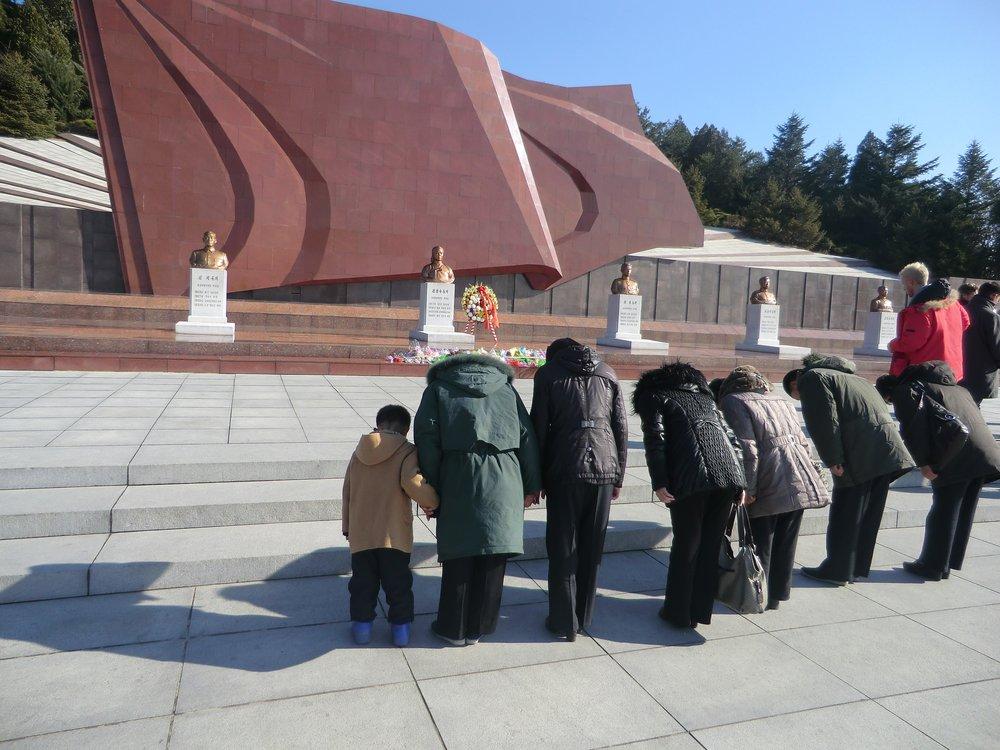 Bust of Kim Jong Suk in the Revolutionary Martyrs' Cemetery, Pyongyang, Democratic People's Republic of Korea