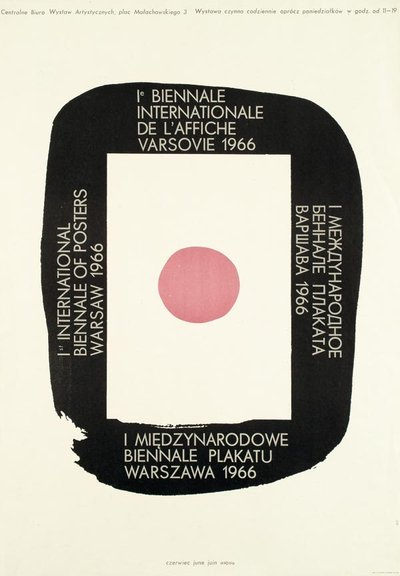 Poster announcing the first International Poster Biennale, Warsaw, 1966