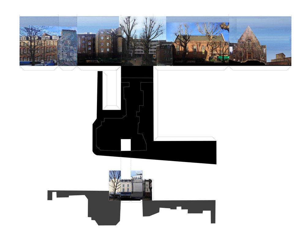 Tottenham Court Road, Site's representation, Collage