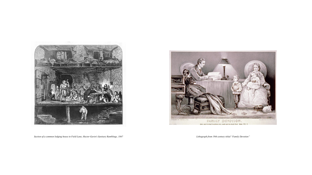 Rookeries vs. Modern Dwellings / Victorian perceptions of decent and indecent, public and private behaviours