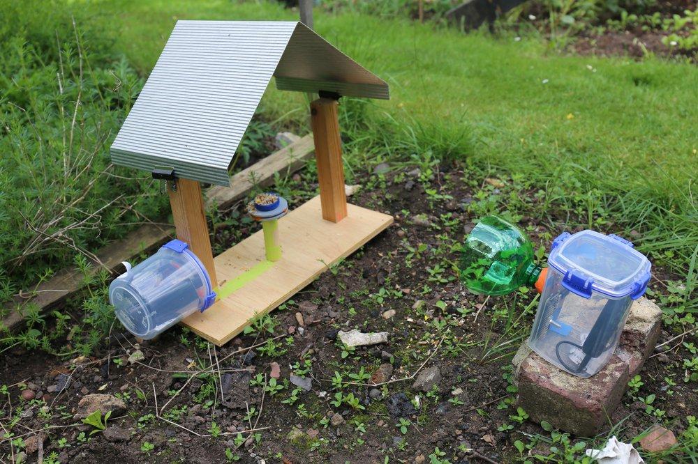 RFID-reading bird feeder, or Freader (left), Naturewatch Camera Trap (right)