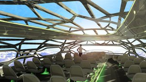 Royal College of Art and Imperial College research and design project that fed into the new airbus concept cabin for 2030