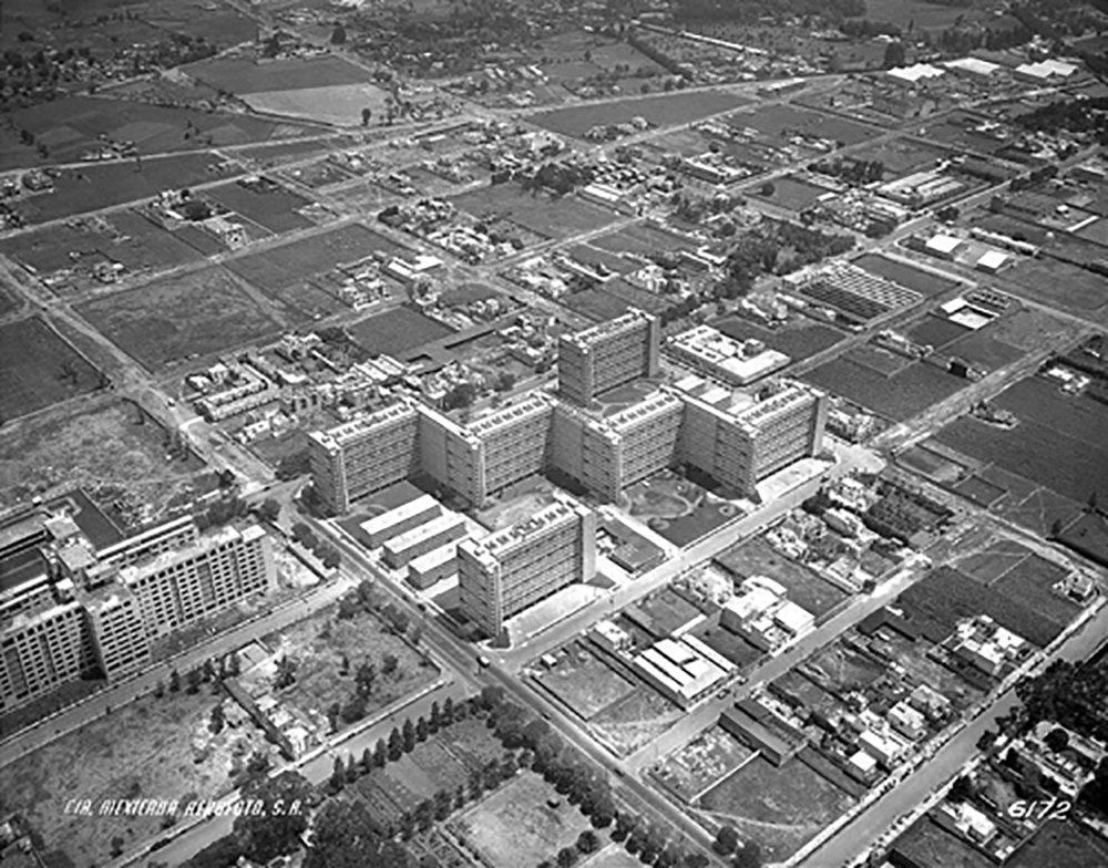 Aerial view of the Centro Urbano Presidente Alemán