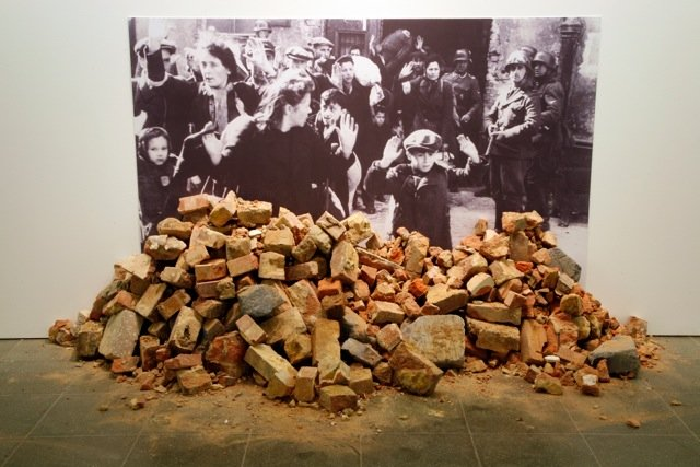 Gustav Metzger, Historic Photographs: No. 1: Liquidation of the Warsaw Ghetto, April 19 – 28 days, 1943 1995/ 2009, installation view from the exhibition Gustav Metzger: Decades 1959–2009, Serpentine Gallery, London (29.09 – 08.11.2014)