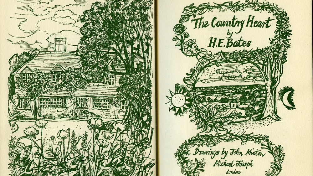 The Country Heart by H E Bates (frontispiece). Drawings by John Minton. (Michael Joseph, 1949)