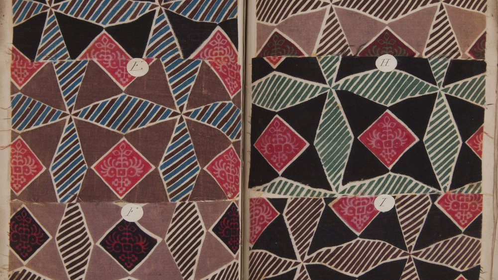 Sample 718 from 709-784, c.1850, Swaisland Pattern Book. Textiles pattern books, Special Collections.