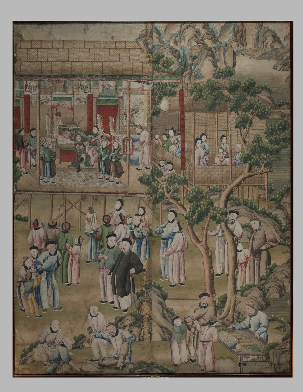 Detail, Chinese wallpaper, made in Guangzhou, China, ©Victoria and Albert Museum, E.3017-1921