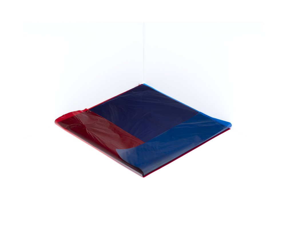 Crossed Fold #1 (Blue on Red 0748)