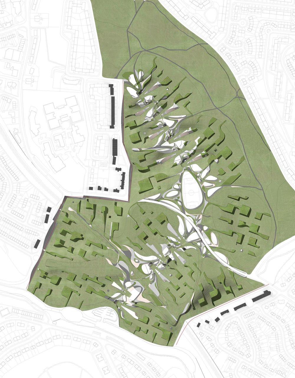 Site plan: tectonic veneer