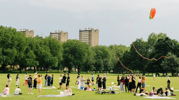 Art on the Grass, MA Fashion 2021 Graduate Event in Victoria Park
