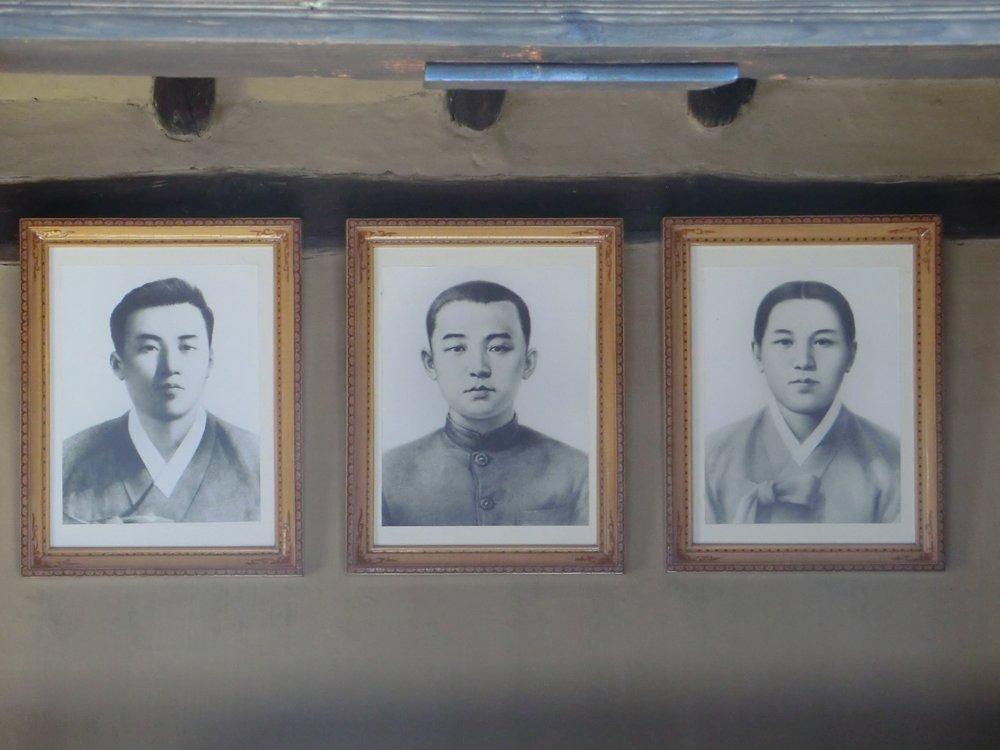 Portraits of Kim Il Sung's family members, Mangyongdae, Democratic People's Republic of Korea