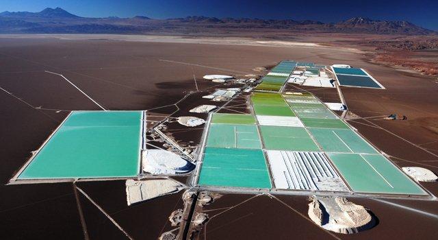 Rockwood lithium mining facilities, Salar de Atacama, Chile