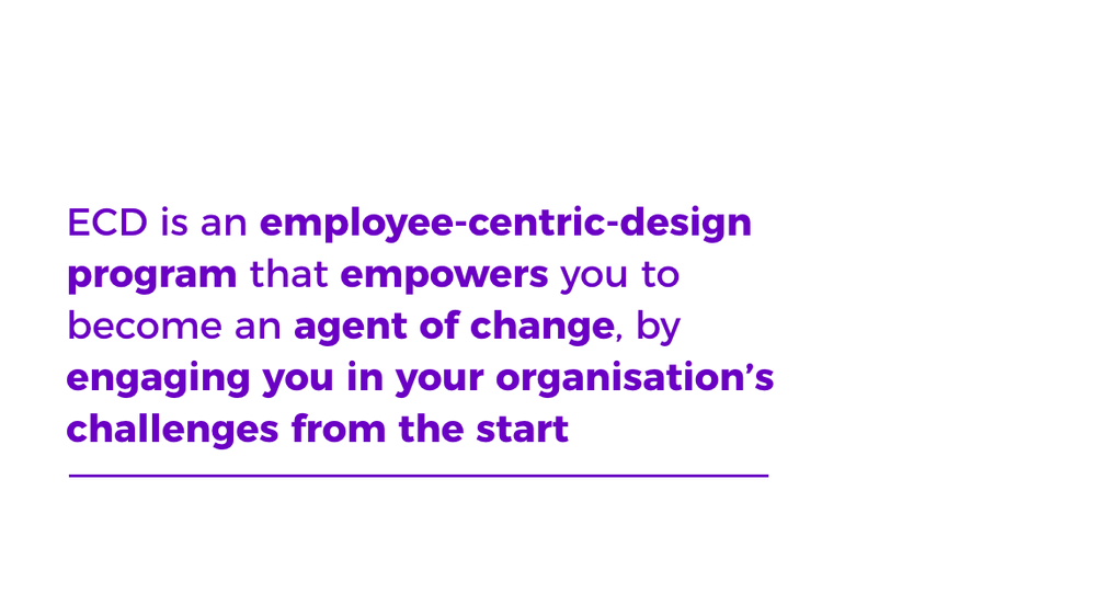 ECD employee-centric-design program