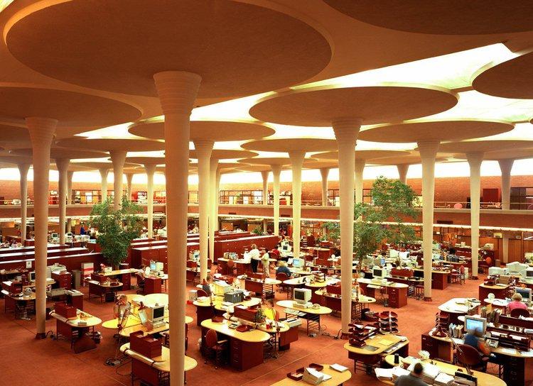 Johnson Wax Headquarters, Racine, Frank Lloyd Wright 1936-39