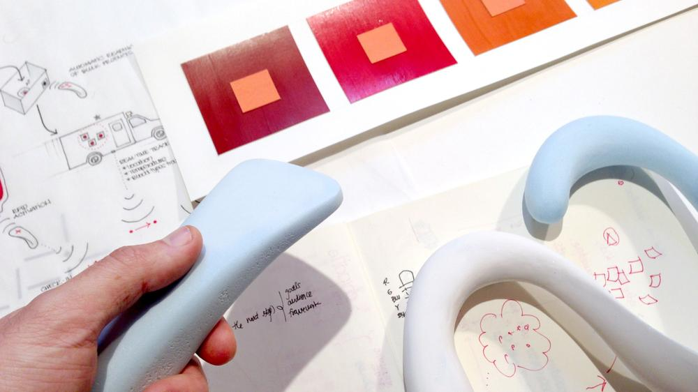 Process: defining form ergonomics and colour palettes