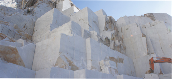 The last piece of Carrara marble