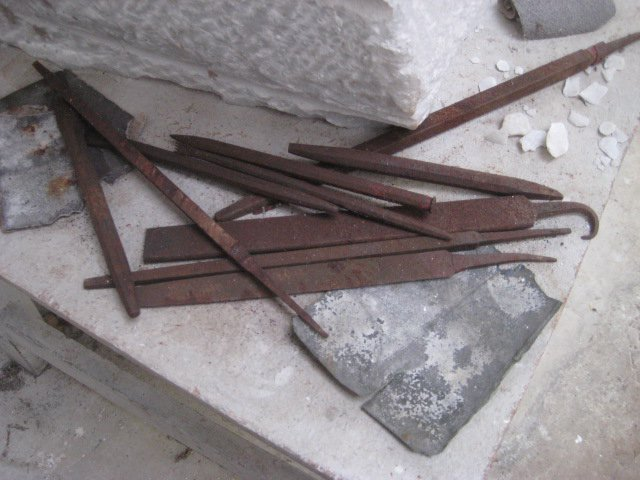 M photo 3 [Chisel in the stone-carving studio at the Barbara Hepworth Museum and Sculpture Garden, St Ives]