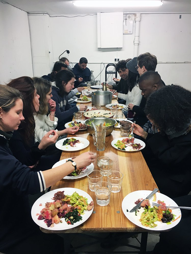 'How long can you chew until it starts sucking?' Collective eating and workshop at Brixton Pound, part of 'We Cannot Work Like This'.