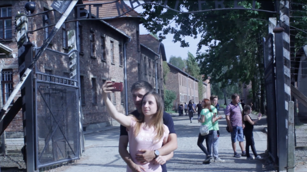 still from Selfies at Auschwitz