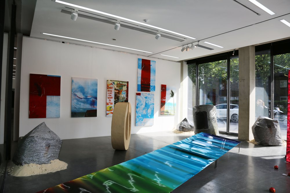 Work in show space - Dyson Gallery