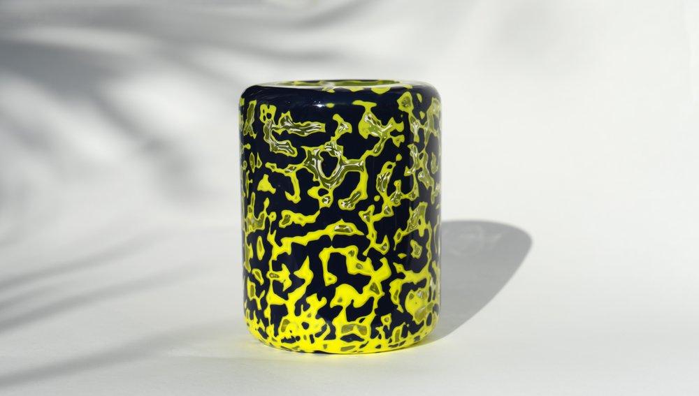 Midnight Blue Xi Pi Glass Jar