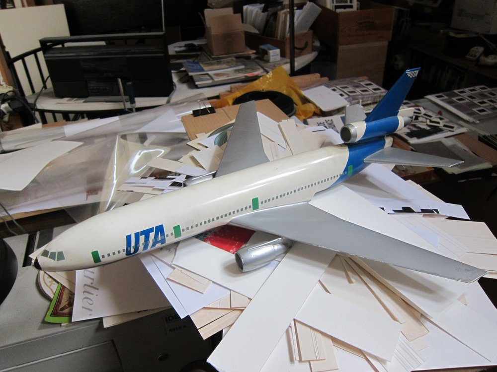UTA aircraft model by Jean-Marie Chourgnoz, 1971