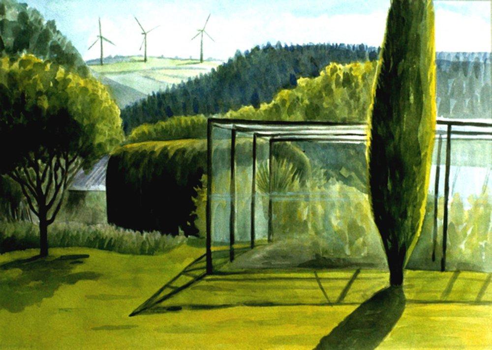 Fruitcage and Windfarm Cornwall 2001