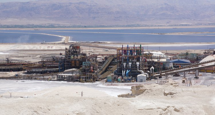 Dead Sea Works extraction plant. 2015