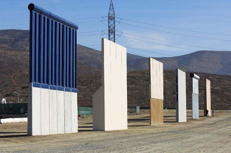 In 2017 US Customs and Border Protection issued two Requests for Proposals for designs for a US-Mexico Border Wall. Eight 30ft high prototypes have been built in Otay Mesa to test their resistance to breaching, climbing and digging.
