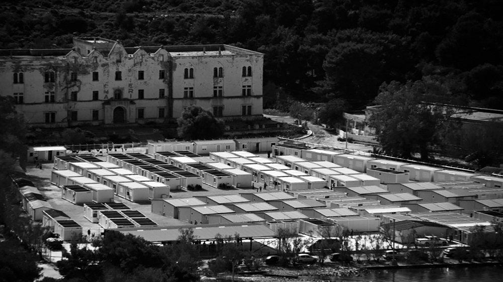 Leros, migrant camp