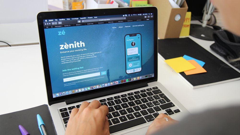 Zénith Landing Page